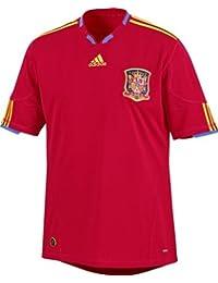 adidas Camiseta de fútbol de la selección de España FEF equipación, color rojo y dorado