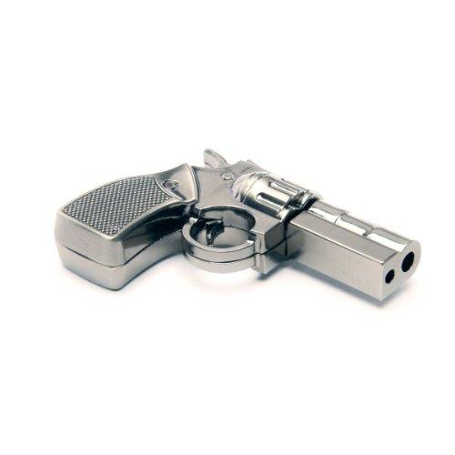 Funny Design USB Stick by aricona - Form Pistole aus Metall mit 16 GB, schneller USB 2.0/1.1, coole, lustige Figur Speichersticks mit Plug&Play, originelle, witzige Motiv Sticks, das besondere Geschenk