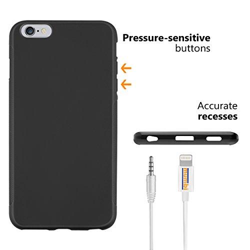 mumbi Hülle für iPhone 6 Plus 6s Plus schwarz Grip