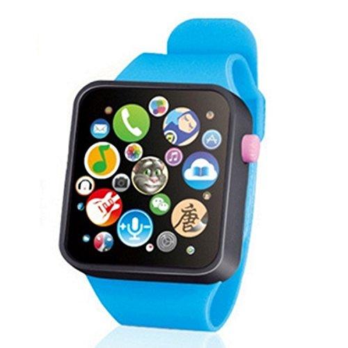 Campaig Smartwatches für Kinder Kids Touch Screen Uhren Kind Musik Spielzeug Smart Watch Early Childhood Education Lernen Digitaluhren (Black Frame) - (Blue Strap) für Baby Urlaub Geburtstag Spielzeug