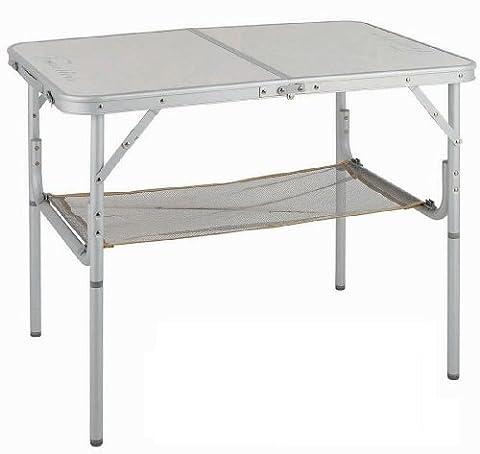 FORMA MARINE Camping-Tisch aus Aluminium 61x90 cm, Klappbares Köfferchen 'Camping-Duo'. Rahmen:Eloxiertes Aluminiumrohr 25mm Außendurchmesser -1mm Wanddicke. Melaminbeschichteter, zusammengepresster Karton. Aluminiumprofil. Verzinkter Stahl. PA220S