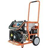 FUXTEC Benzin Stromerzeuger FX-SG7500B mit Elektrostart, 6500 Watt Leistung, 16 PS 4-Takt Motor mit 420cc Hubraum - 380V und 230V Anschluss