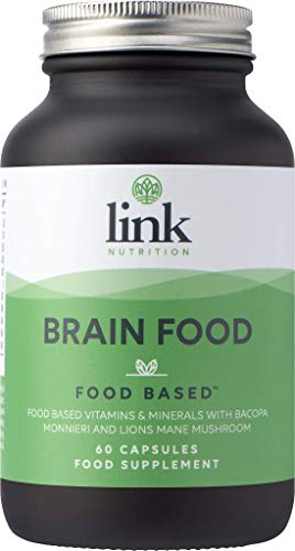 5e2410383794 [Brain Food] Food Based Supplement | Contains Bacopa Monnieri, Lions Mane  Mushroom & Turmeric | Safe - Effective - Absorbable | Vegetarian | Made in  ...