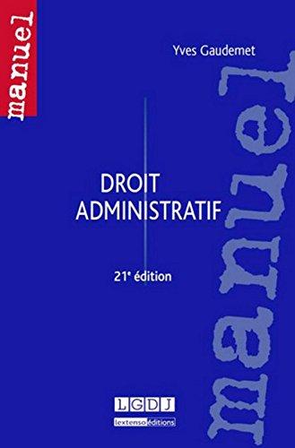 Droit administratif, 21ème Ed.