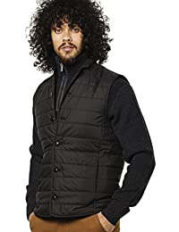 VEDONEIRE Mens City Gilet (3058 BLACK) quilted padded sleeveless waistcoat vest