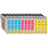 Start – Cartuchos de repuesto compatible con Epson T0711, T0712, T0713, T0714, color 4 cián 4 magenta 4 amarillo