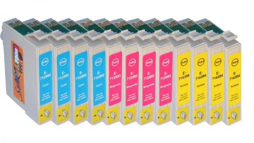 epson stylus bx300f Start - 12 Ersatz Druckerpatronen kompatibel zu Epson T0712, T0713, T0714 (444) für Epson Stylus D120, D78, D92, DX4000, DX4050, DX4400, DX4450, DX5000, DX5050, DX5500, DX6000, DX6050, DX7000F, DX7400, DX7450, DX8400, DX8450, DX9200, DX9400F, Office B40W, BX300F, BX310FN, BX510W, BX600FW, BX610FW, S20, S21, SX100, SX105, SX110, SX115, SX200, SX205, SX210, SX215, SX218, SX400, SX400 WiFi, SX405, SX405 WiFi, SX410 ,SX415 ,SX417 ,SX510W ,SX515W ,SX600FW, SX610FW