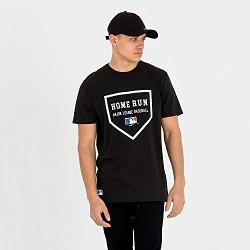 New Era MLB Slogan T-Shirt, Black, S