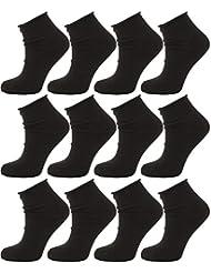 Calzini Corti Sportivi Senza Elastico, Calze Uomo/Donna in Cotone, calzino Comfort Tinta Unita, Non stringe