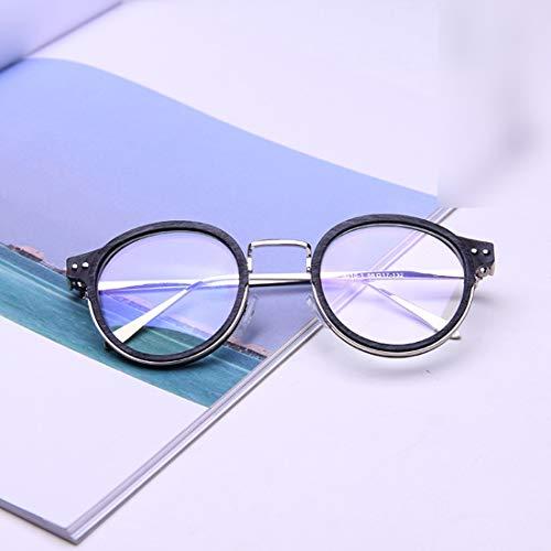Chengduaijoer Stilvolle Retro-Brillenfassung für Brillen Unisex Brillen mit klarer Brille Nicht verschreibungspflichtige Brillen (Color : Black)