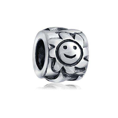 Glückliches Smiley Gesicht Sonne Celestial Charm Bead Für Damen Für Jugendlich Sterling Silber Passt Armband -