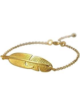 Gemshine - Armband - Feder - Vergoldet - Boho