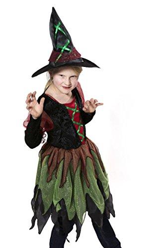 inderkostüm Hexe, Kleid und Hut (Monster Hüte Für Halloween)