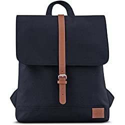 Johnny Urban Sac à Dos Femme Noir/Marron Mia à Partir de Pet Recyclé - Mini Daypack Vintage Durable Haute Qualité - Petit Sac a Dos 7 litres pour Femme - Imperméable avec Poche pour pc Portable