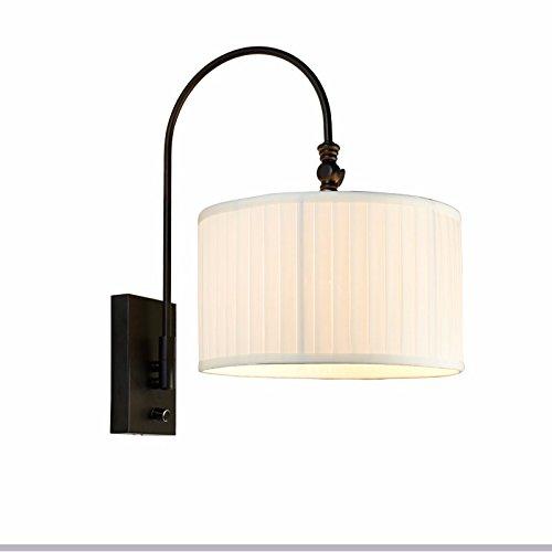 GK-nordeuropa - stil land kreativität lampe, schlafzimmer, studium, mit spiegel, einstellbare rocker wall lamp, 39cm * 46cm