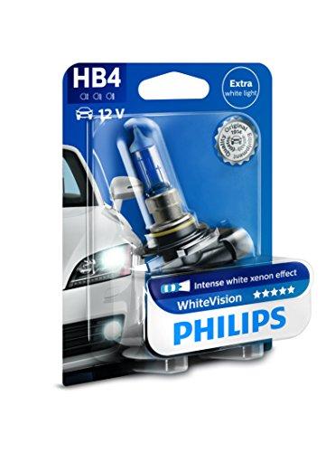 Philips WhiteVision Xenon-Effekt HB4 Scheinwerferlampe 9006WHVB1, Einzelblister Philips White Vision