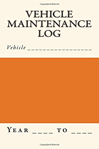 Vehicle Maintenance Log: Orange and Cream Cover (S M Car