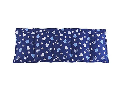 Herzchen blau 50x20 Wendekissen Herzen Körnerkissen Wärmekissen