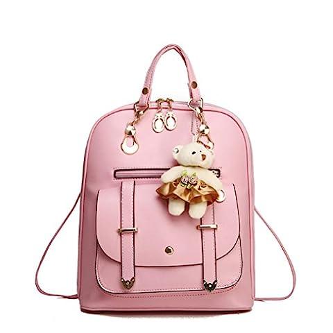 erthome 1x Fashion Women Girl School Leather Shoulder Bag Backpack