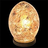 Stunning Mini Egg Lamp, Mosaic Glass - Gold