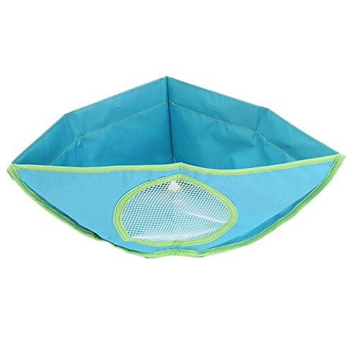 Bad Spielzeug Aufbewahrungstasche - SODIAL(R)Baby Kinder Badewanne Spielzeug Haengender Speicher Dreieckige Wasserdichte Tasche (blau)
