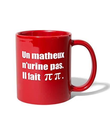 Mathématiques Pi Blague Tasse Mug, rouge