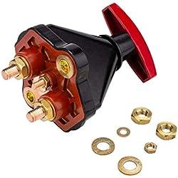 Coupe Circuit Batterie Electrique Camping Car,12V-24V 600Ah Interrupteur de Batterie Isolateur Principal pour Auto Voiture Camion Bateau Véhicule Micro Tracteur Trike