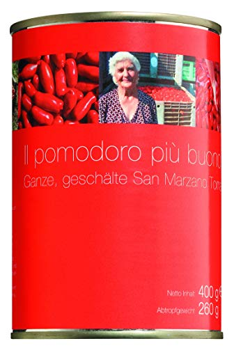 Il pomodoro più buono Pomodoro San Marzano, Ganze, geschälte Tomaten, 400 g