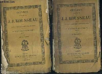 OEUVRES COMPLETES DE J.J. ROUSSEAU AVEC DES ECLAIRCISSEMENTS ET DES NOTES HISTORIQUES - DICTIONNAIRE DE MUSIQUE TOME 1 + 2 / 2E EDITION - OEUVRES COMPLETES DE J.J. ROUSSEAU TOME XII + XIII. par J.J. ROUSSEAU
