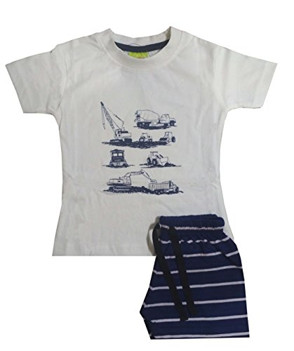 shaishav wears Cotton Baby Boy's T-Shirt and Shorts Set (White, 2-3 Years)