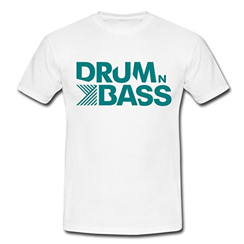 Spreadshirt Drum n Bass Männer T-Shirt, M, Weiß