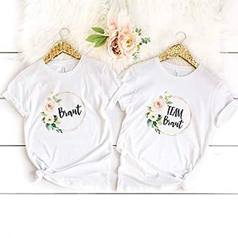 """T-Shirt """"Team-Braut"""" gold/modern weiß aus 100% Baumwolle"""