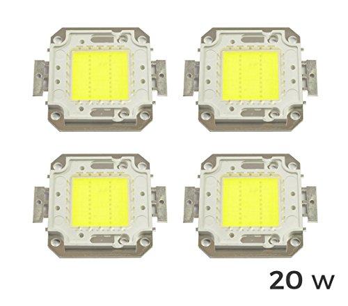 Pack 4Blutplättchen LED-Scheinwerfer LED kaltweiß 6500K 20Watt. MWS