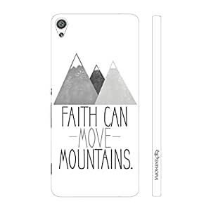 Enthopia Designer Hardshell Case Faith can move mountains Back Cover for Sony Xperia XA