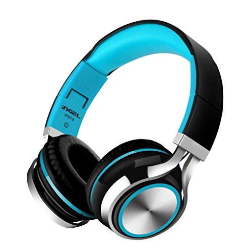 Wokee Kopfhörer Kopfhörer Headset Stereo mit Mikrofon,Kabelloser On-Ear Bluetooth Kopfhörer mit Integrierter Musiksteuerung und Mikrofon Kompatibel mit Smartphone MP3/4 PC verdrahtet Mobile-traveller-bluetooth-headset