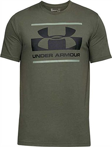 Under Armour Herren Blocked Sportstyle Logo Kurzarmshirt, Downtown Green, MD (Company T-shirt Logo)