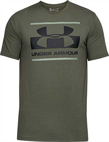 Under Armour Herren Blocked Sportstyle Logo Kurzarmshirt, Downtown Green, MD (T-shirt Company Logo)