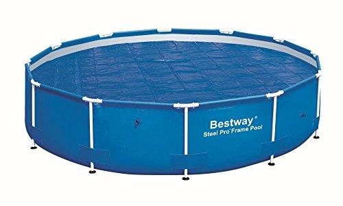 Bestway Flowclear Abdeckung Solarplane Haube schwimmend PVC für runden Steel Frame Pool Pro Durchmesser 366cm