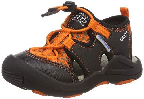 Geox Jungen JR Kyle B Geschlossene Sandalen, Gelb (Orange/Black C0569), 28 EU (Schuhe Geox-jungen Anziehen)