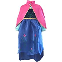 La Senorita Anna Frozen Vestido Princesa Niña + Frozen collar GRATUITO