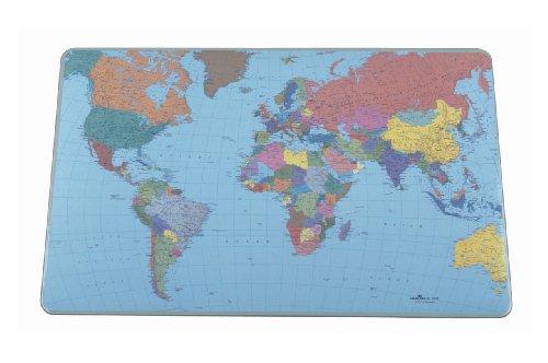 Durable Schreibtischunterlage mit Weltkarte 530 x 400 mm 5 Stück