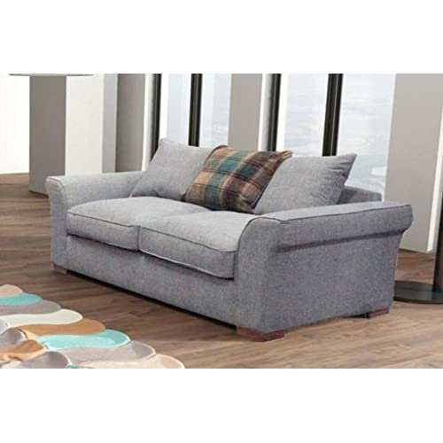 HUGO Deluxe Sofa Set Settees Couch 3 Seater & 2 Seater Suite (Beige, 3 & 2 Seater Set)