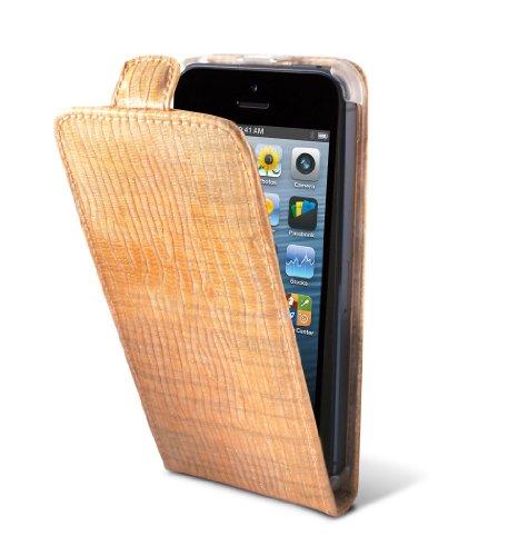 TammyB Idella Flip Case für iPhone 5, Leder orange