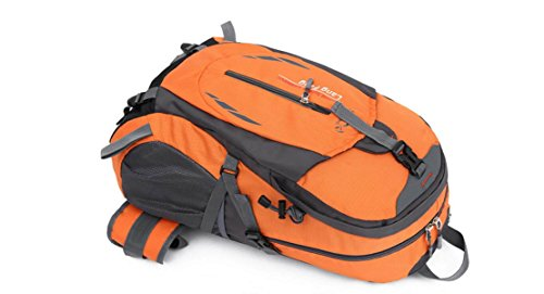 LQABW Außen Mountaineering Große Kapazitäts-Spielraum-Schulter Männer Sport Weiblich Wasserdichte Wandernde Rucksack Tasche Red