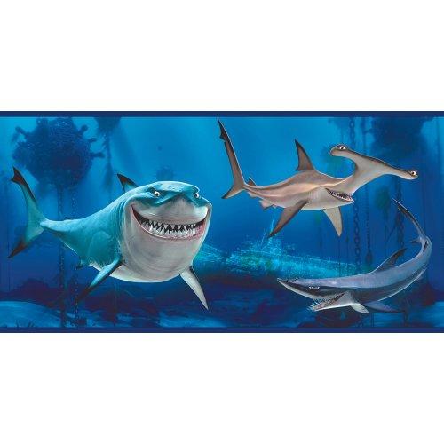 Imperial Disney Home df059231b findet Nemo Shark Bordüre, Blau 39, 26breit