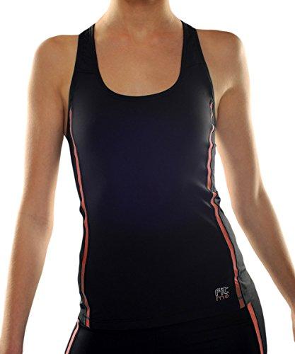 Débardeur top sport femme FITme noir/couleur - 4 coloris à marier aux pantalons et soutien-gorge sport femme FITme Rouge