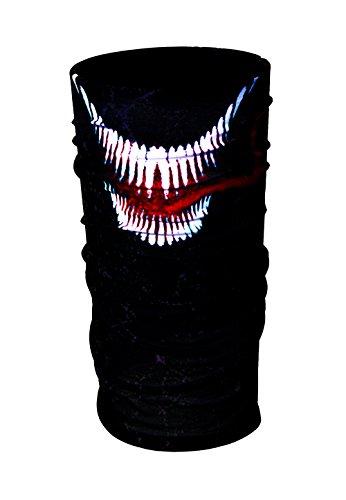 HD Druck Premium - Multifunktionstuch ZaPro® Deutschland Qualitätsgeprüft - Verschiedene & Einzigartige Desings - Motorrad | Maske | Totenkopf | Sturmmaske | Premium Quality (Venom) (Spiderman Venom Maske)