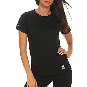 Happy Clothing Damen Sport T-Shirt Kurzarm Trikot Sommer Funktionsshirt Fitness Top