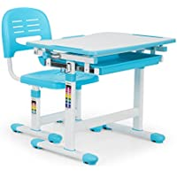 oneConcept Tommi • Kinderschreibtisch-Set • für Kinder 3-10 Jahre • zweiteilig • Tisch und Stuhl • neigbare Tischplatte • Kippwinkel 0 - 40° • Oberfläche ohne Blend- / Reflexionseffekte • blau preisvergleich bei kinderzimmerdekopreise.eu