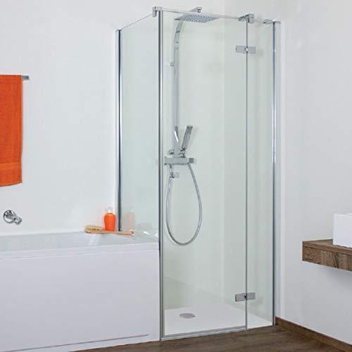 Duschkabine an Badewanne auf Maß, Pendeltür - Eck Duschkabine 93056245626 R - Aktion